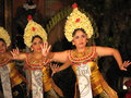Balinese Legong Dancers Royalty Free Stock Photo