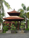 Balinese pavilion in resort garden Stock Image