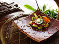 Balinese religious offerings Royalty Free Stock Photography