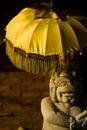 Balinese Statue Umbrella Royalty Free Stock Photography