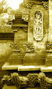 Balinese stone carving details Royalty Free Stock Images