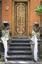 Balinese temple door Royalty Free Stock Images