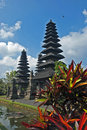Balinese temple pura taman ayun bali indonesia Stock Images
