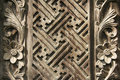 Balinese wood carving design background Royalty Free Stock Image