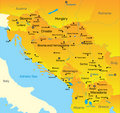 Balkan  map Royalty Free Stock Image