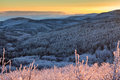 Balkan Mountains sunset Royalty Free Stock Photo