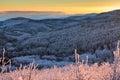Balkan Mountains sunset Royalty Free Stock Photo