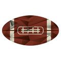 Ball american football icon abstract