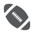 Ball american football oval icon vector