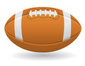 Ball for american football vector illustration on white background Royalty Free Stock Photo