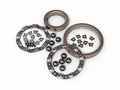 Ball bearing d render detail on white and clipping path Stock Image