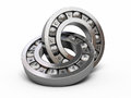 Ball bearing d render on white and clipping path Royalty Free Stock Photo