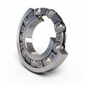 Ball bearing detail section render on white and clipping path Royalty Free Stock Photography