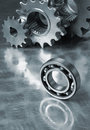 Ball-bearing with gears Stock Photos
