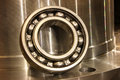 Ball bearing on the metal mold Stock Photo