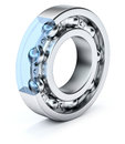 Ball bearing over white background d illustration Stock Photography