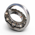 Ball bearing render detail section isolated on white and clipping path Royalty Free Stock Photography