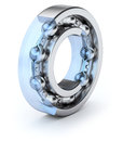 Ball bearing section of over white background d illustration Stock Images