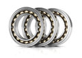 Ball bearings on white background d rendering illustration Stock Photos