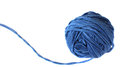 Ball of blue yarn Stock Photo