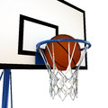 Ball bouncing on a basketball backboard illustration of that Royalty Free Stock Images