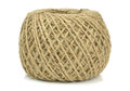A ball of brown string Royalty Free Stock Photo