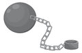 Ball and chain illustration of a Royalty Free Stock Photography
