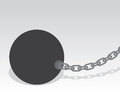 Ball and chain large with shadow Stock Photos