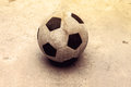 Ball on the concrete Royalty Free Stock Photo