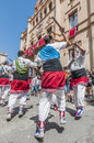 Ball de Bastons at Festa Major in Sitges, Spain Royalty Free Stock Photography