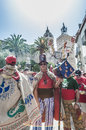 Ball de Diables at Festa Major in Sitges, Spain Royalty Free Stock Photography