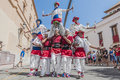 Ball de Moixiganga at Festa Major in Sitges, Spain Royalty Free Stock Photos
