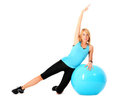 Ball exercise Royalty Free Stock Image