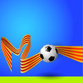 Ball with flag of catalonia sport football background Royalty Free Stock Photos