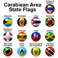 Ball flags caribbean area state shape Royalty Free Stock Photos