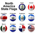 Ball flags northern american states shape Royalty Free Stock Photo