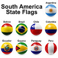 Ball flags south america state shape Royalty Free Stock Image