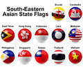 Ball flags southern eastern asian state Stock Photos