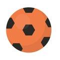 Ball football icon, flat, cartoon style. Isolated on white background. Vector illustration, clip-art.