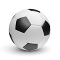Ball football soccer sport single Royalty Free Stock Photo