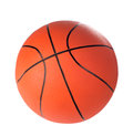 Ball for game in basketball of orange colour isolated on white background Stock Photography