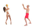 Ball game at the beach Royalty Free Stock Photo