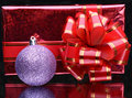 Ball and gift box Royalty Free Stock Photography