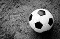 Ball on the ground opportunity of playing football for children in rural areas they want to play football Royalty Free Stock Photos