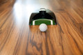 Ball mini golf home white course on the floor at Royalty Free Stock Photography
