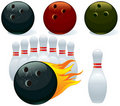 Ball and pin bowling Stock Images