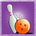 Ball and pin bowling Royalty Free Stock Photography