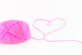 Ball of pink yarn Stock Photography