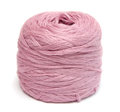 Ball of pink yarn Royalty Free Stock Photo