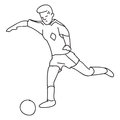 Ball player soccer Royaltyfri Bild